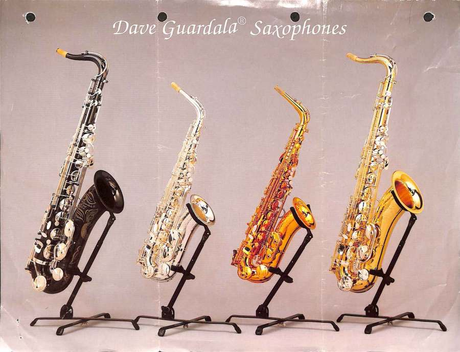 B&S saxophone, Dave Guardala, German saxophone, color brochure, alto sax, tenor sax