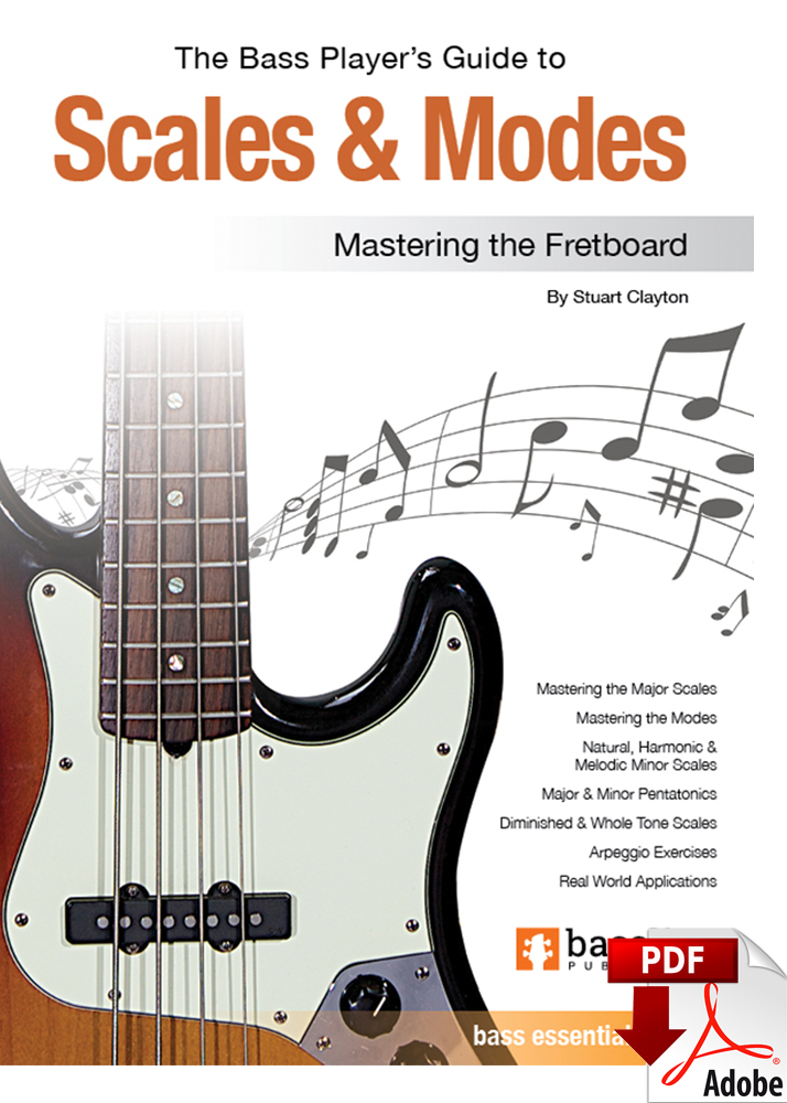 Bass Guitar Scales Pdf : guitar, scales, Player's, Guide, Scales, Modes, Edition), Bassline, Publishing