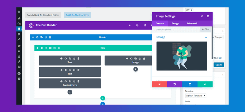 Divi plugin interface