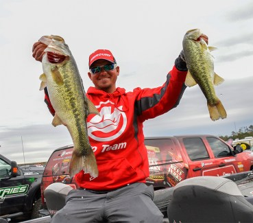 Bagley Baits pro Drew Benton might have the biggest Round 1 task of all with Kevin VanDam, but don't be surprised if the Florida rookie pulls the upset. Photo by Joel Shangle.