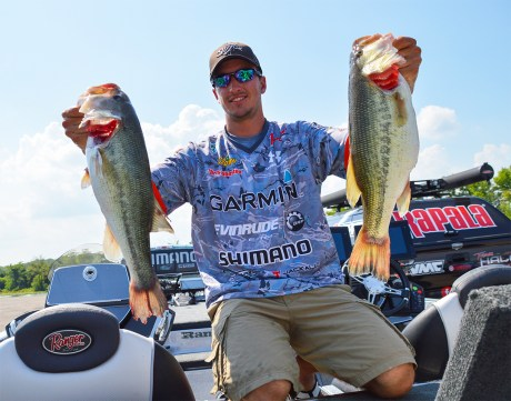 """... and the longtime fans of the FLW Tour went """"Chis WHO?!?"""" this season. Johnston. As in, the guy who damn near knocked off Andy Morgan for AOY honors. The young Canadian has proven to be a top-shelf pro. Photo by Joel Shangle."""
