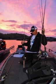 Yet another Championship Sunday sunrise greeted the GOAT at Beaver Lake. Photo by Joel Shangle.