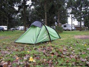 Zelt steht