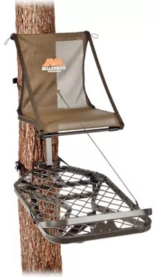 swivel chair tree stand tommy bahama lawn chairs stands deer bass pro shops millennium m150 monster hang on treestand