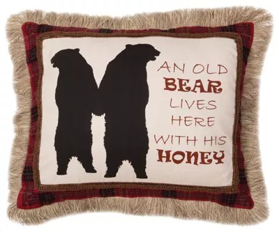 basket bedding collection old bear pillow