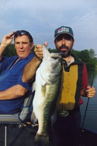 No Ray Scott Lake, com o dono e o meu recorde pessoal 1998