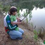 Introdução dos mais novos na pesca do achigã