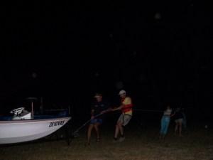 Retirar o barco da água