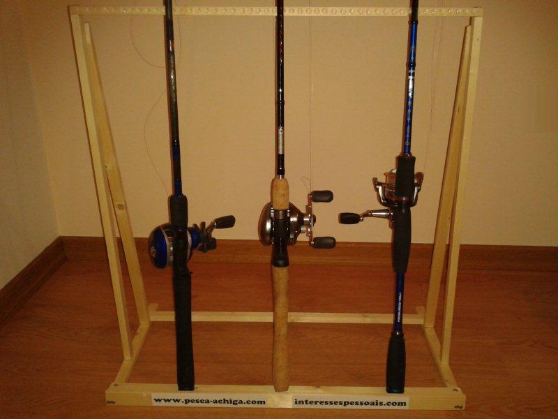 Construir suporte para canas de pesca