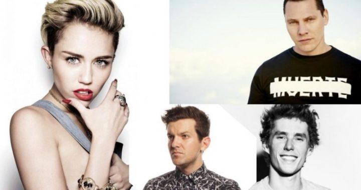 Tiesto, Lost Frequencies & Dillon Francis remix Miley Cyrus's new single!