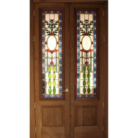 Stained Glass Doors - custom designed
