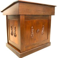Carved Classical Wood Bimah - Bass Synagogue Furniture
