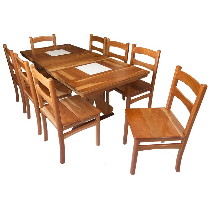 Cherry Wood Dining Table Set  Antique Country French