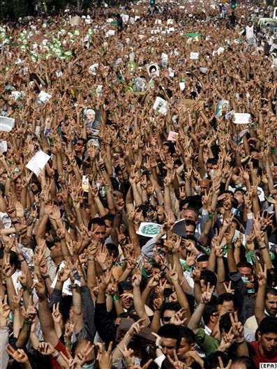Mousavi supporters rally in Tehran