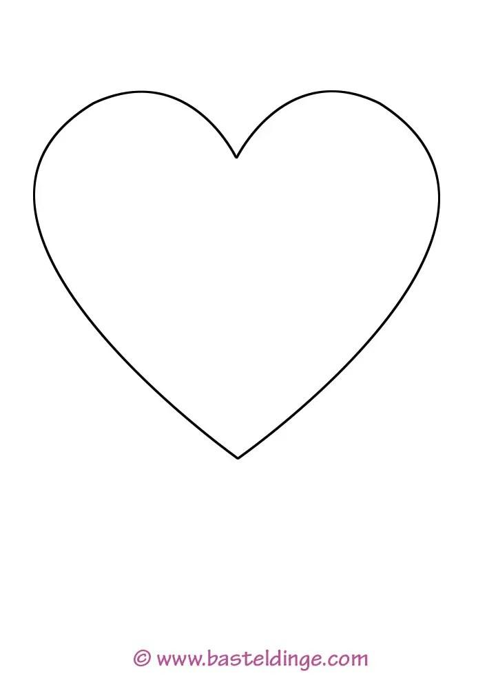 Herz Vorlage zum Ausdrucken » PDF | Kribbelbunt
