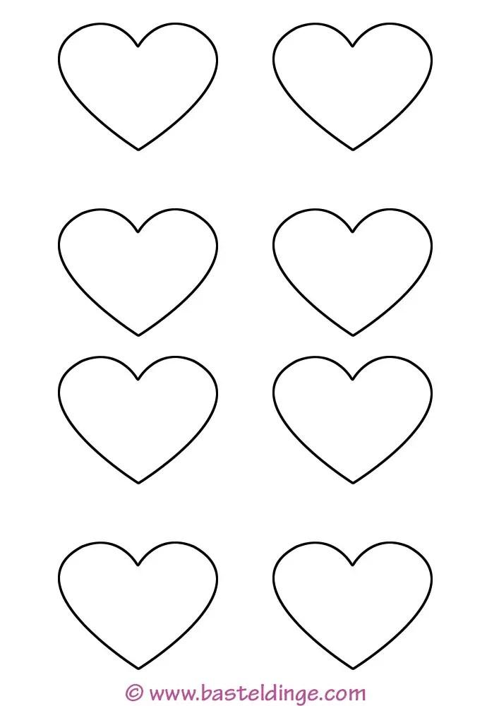 Herz Vorlage Klein Zum Ausdrucken : vorlage, klein, ausdrucken, Große, Kleine, Vorlagen, Basteldinge