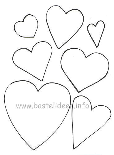 Herz Vorlage Klein Zum Ausdrucken : vorlage, klein, ausdrucken, Herze, Ausdrucken, Besten, Bilder, Ausmalbilder