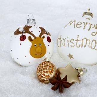 Gestaltung der Weihnachtskugeln. Hier findest du alles!