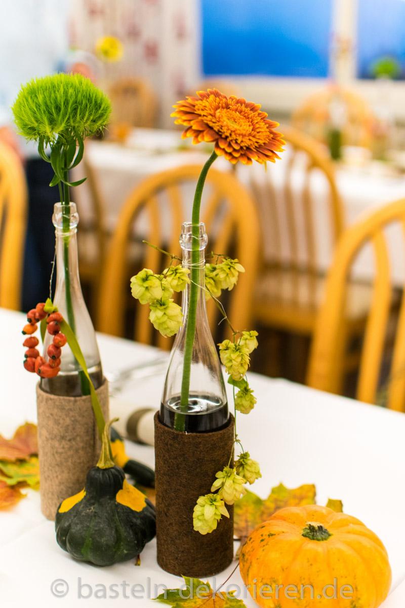 Herbstliche Tischdekoration fr den Geburtstag  Basteln