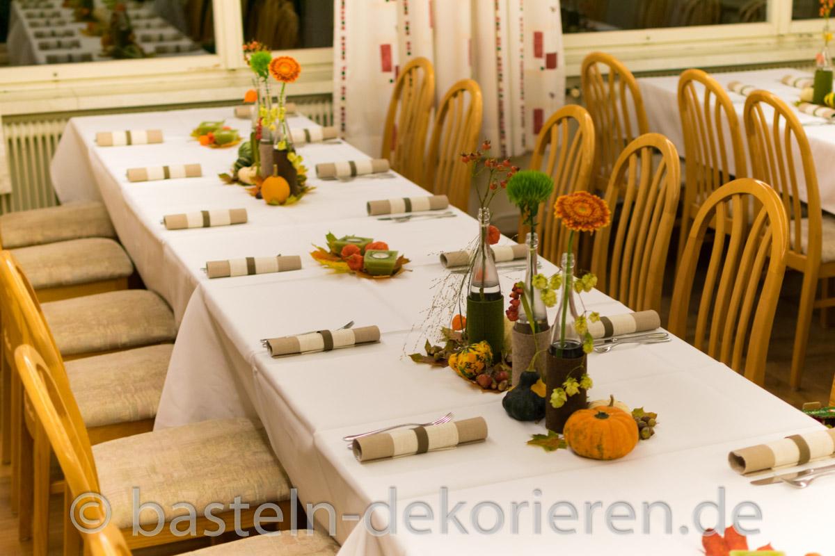 Tischdeko Herbst Geburtstag Tischdeko Herbst Modern
