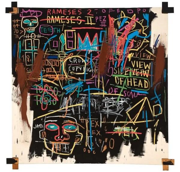 Kings of Egypt II Jean-Michel Basquiat (in 1982) Collectie Museum Boijmans Van Beuningen