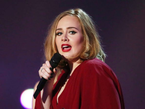 FILE - In this Feb. 24, 2016 file photo shows Adele onstage at the Brit Awards 2016 at the 02 Arena in London. Multiple Grammy Award-winning singer Adele says she turned down an offer to perform at the 2017 Super Bowl halftime show. The British singer told an audience Saturday, Aug. 13, 2016, at her Los Angeles concert that she was asked to perform at the event. (Photo by Joel Ryan/Invision/AP, File)