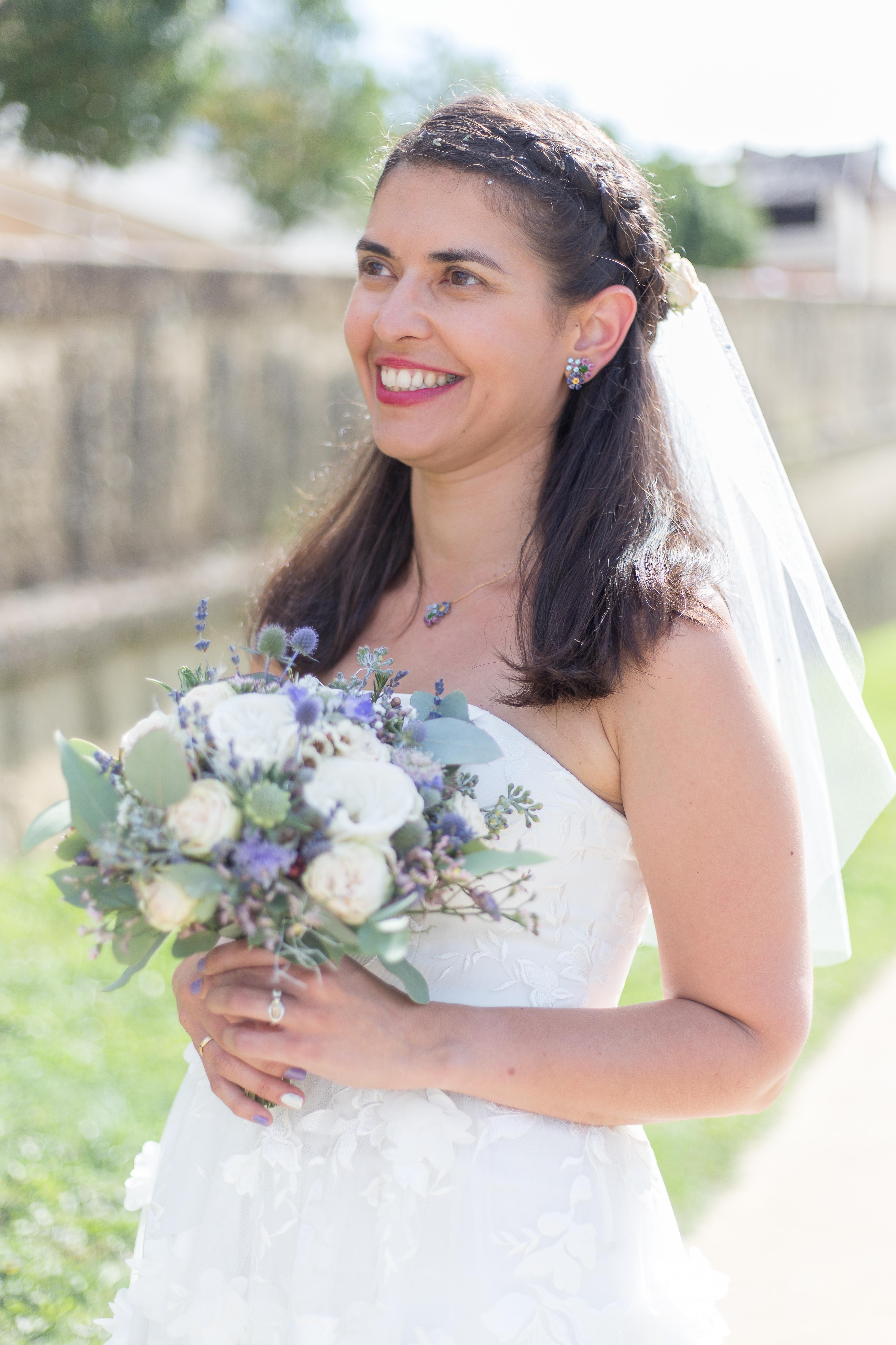 robe mariée portrait