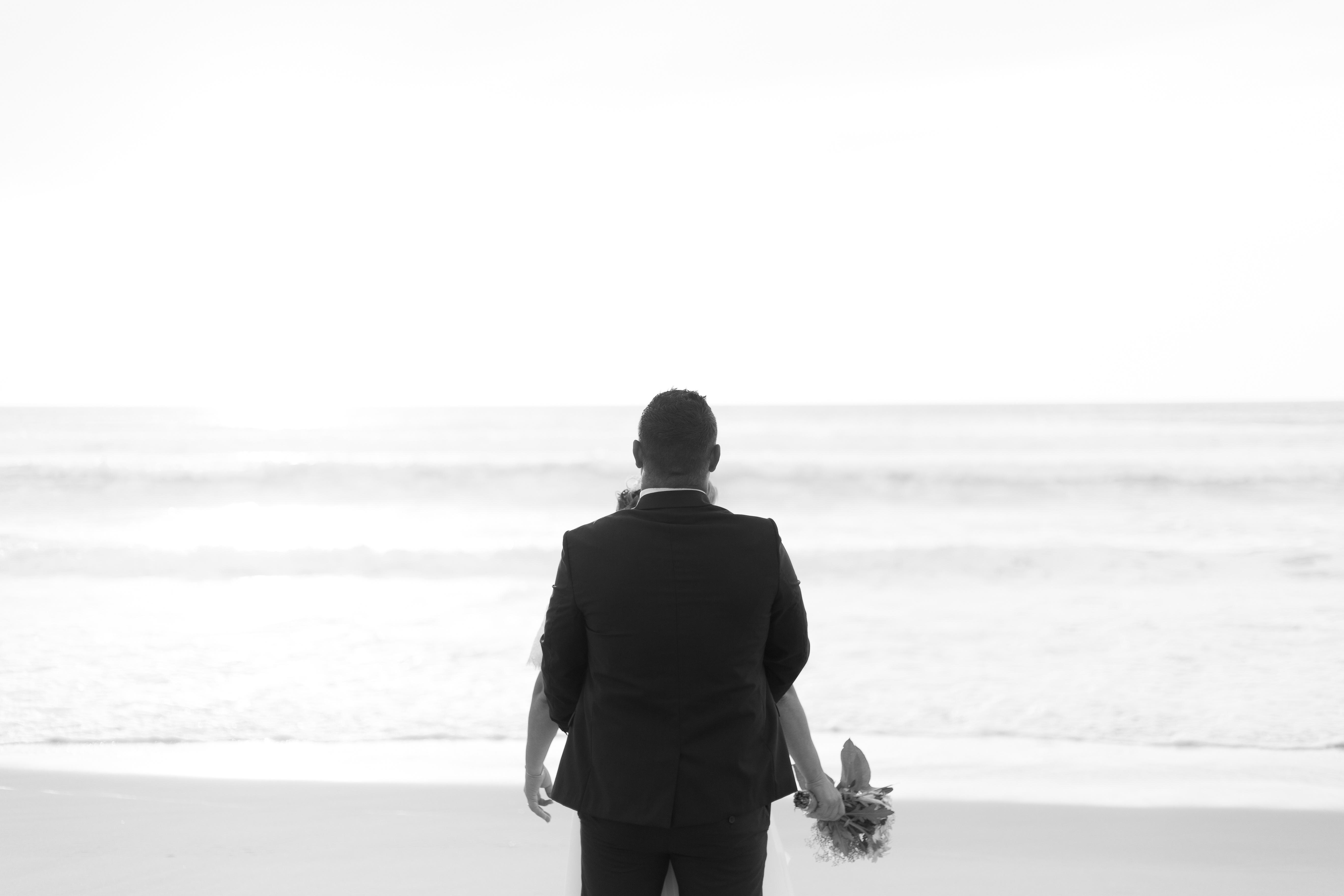 séance photo mariage à la plage