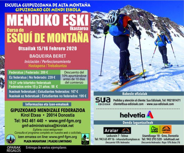 Curso de esquí de montaña 2020