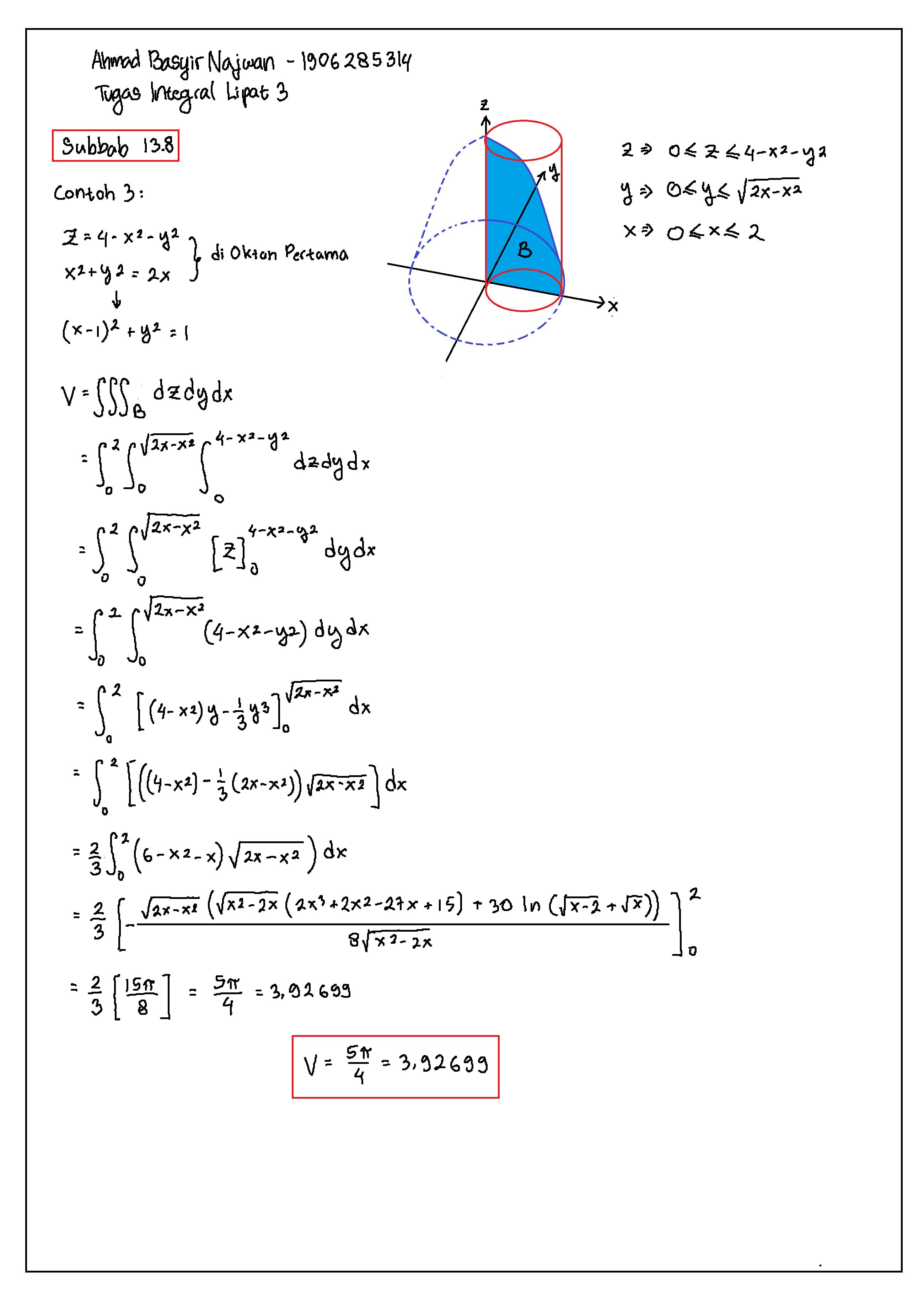 Contoh Soal Integral Lipat Dua : contoh, integral, lipat, Integral, Lipat, Contoh, Pembahasan, Dimensi, Sains