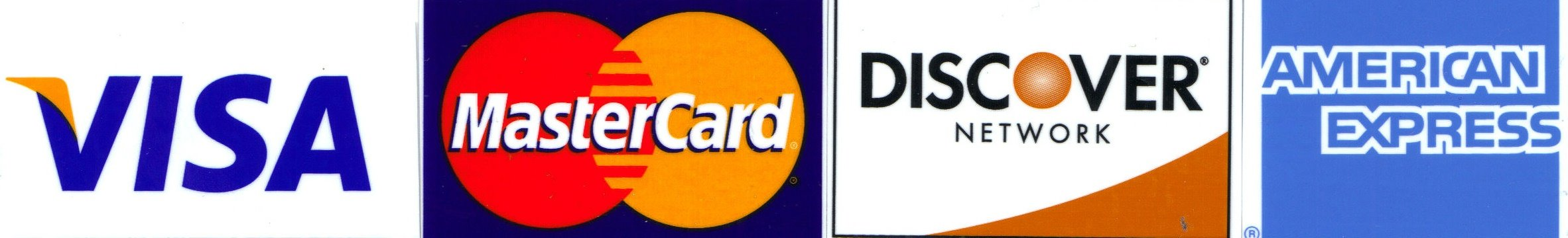 Visa - Mastercard - Discover - American Express