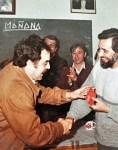 Julio Anguita y Lorenzo Rastrero. 1985 en Camas.