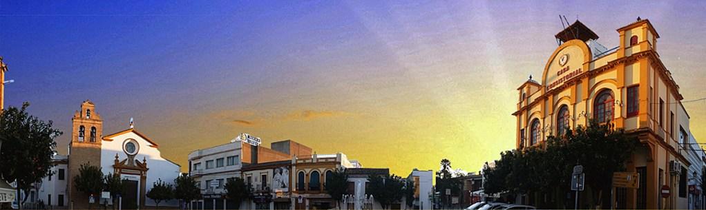 Panorámica de la Plaza del Ayunramiento Viejo de CAMAS (Sevilla)