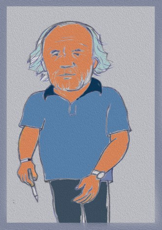 Caricatura de Víctor Marín