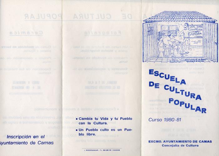 Programa de Actividades de la Escuela de Cultura Popular (A) Curso 1980/1981