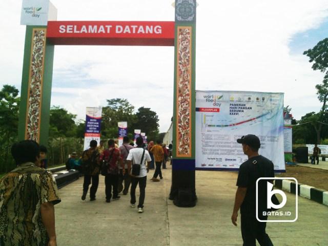 ©batas.id/gunawan wibisono/pintu masuk utama ke area stan