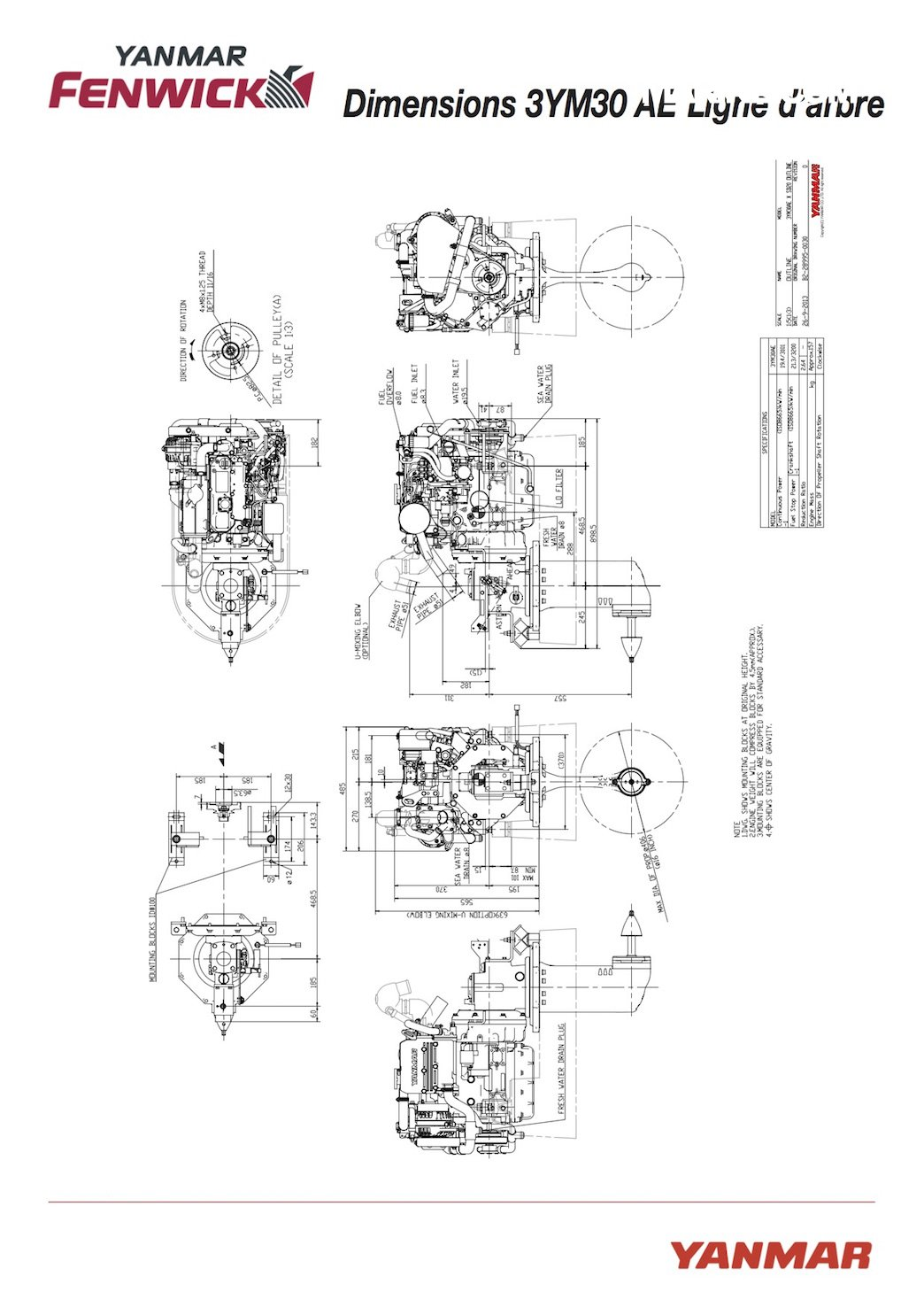 Yanmar 3YM30 ACE, Moteur Inboard neuf à la vente (Gironde