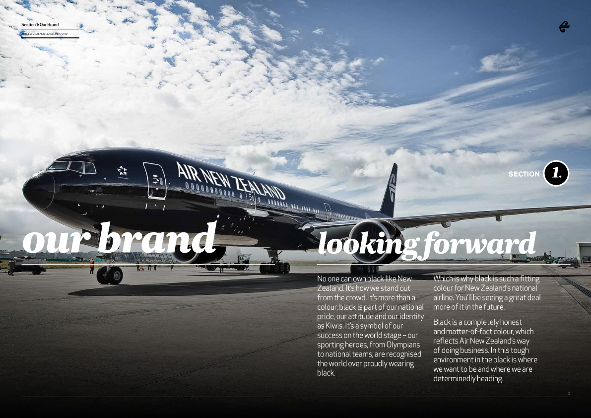 Air New Zealand Brand Guidelines Page 3