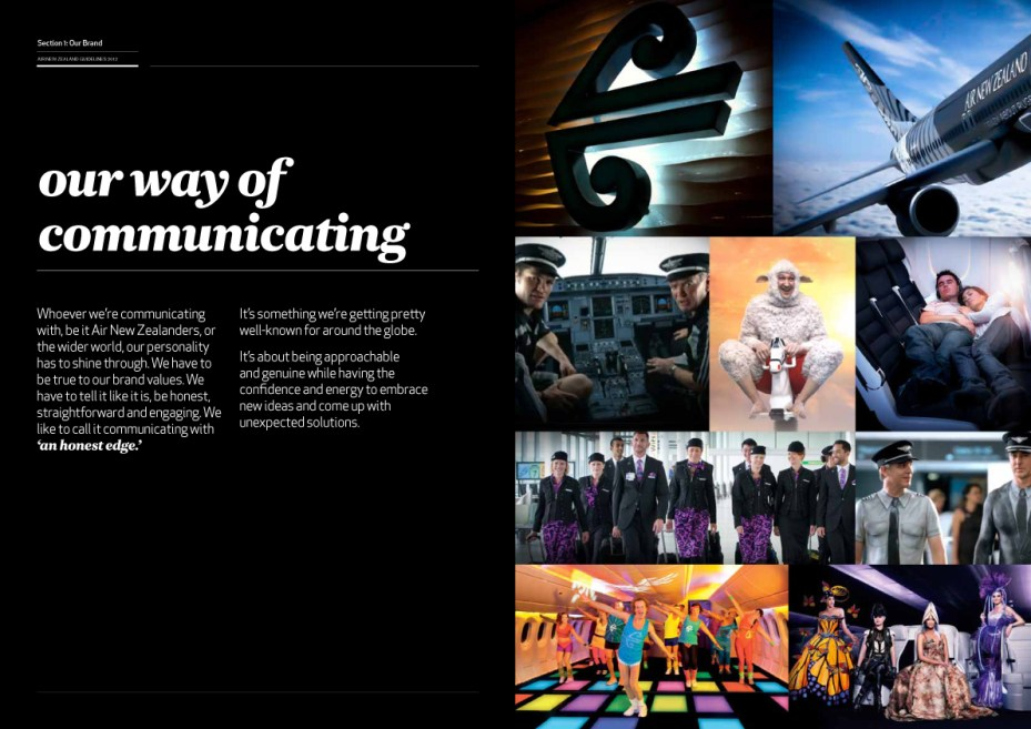 Air New Zealand Brand Guidelines Page 8