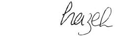 Hazel's signature