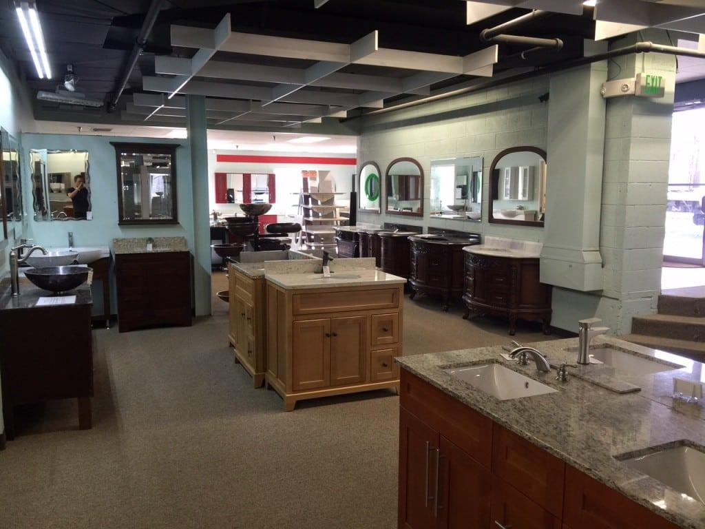kitchen stores denver cherry cart bathroom showroom in shower doors and