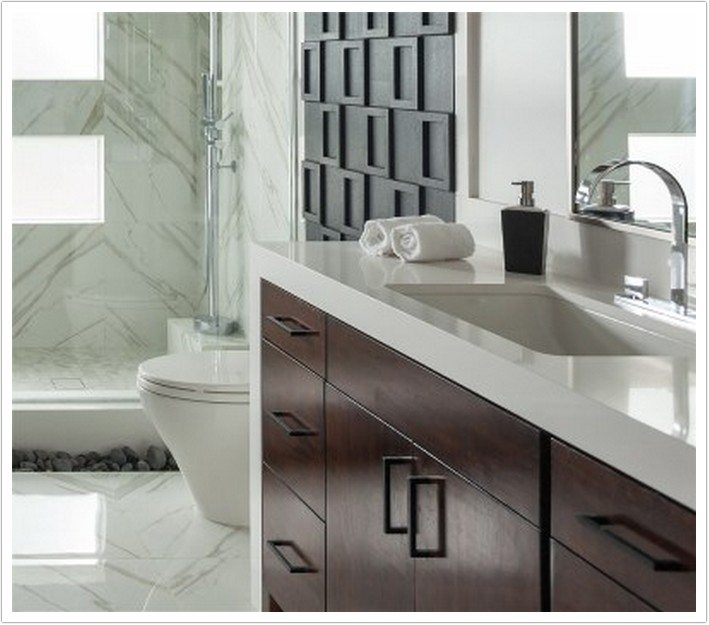 Bathroom Cabinets Mirrors Arctic White Msi Quartz - Denver Shower Doors & Denver