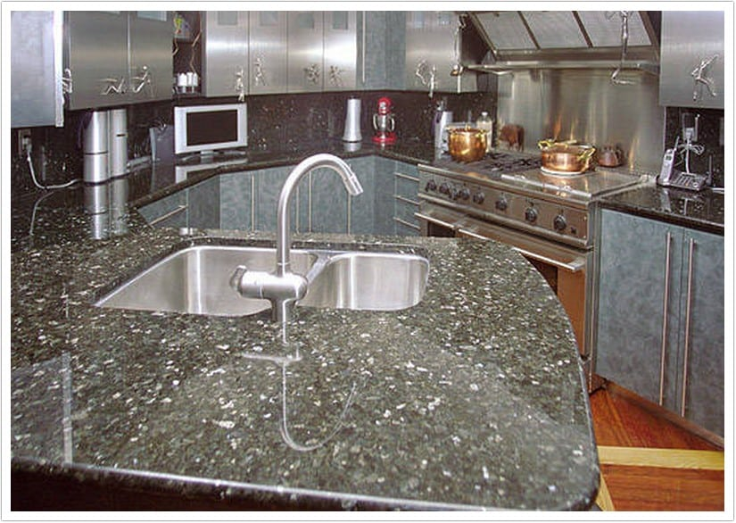 kitchen sinks denver rattan chairs deep blue pearl granite - shower doors & ...