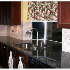 Kitchen Black Cabinets Island With Sink And Stove Top Deep Blue Pearl Granite - Denver Shower Doors & ...