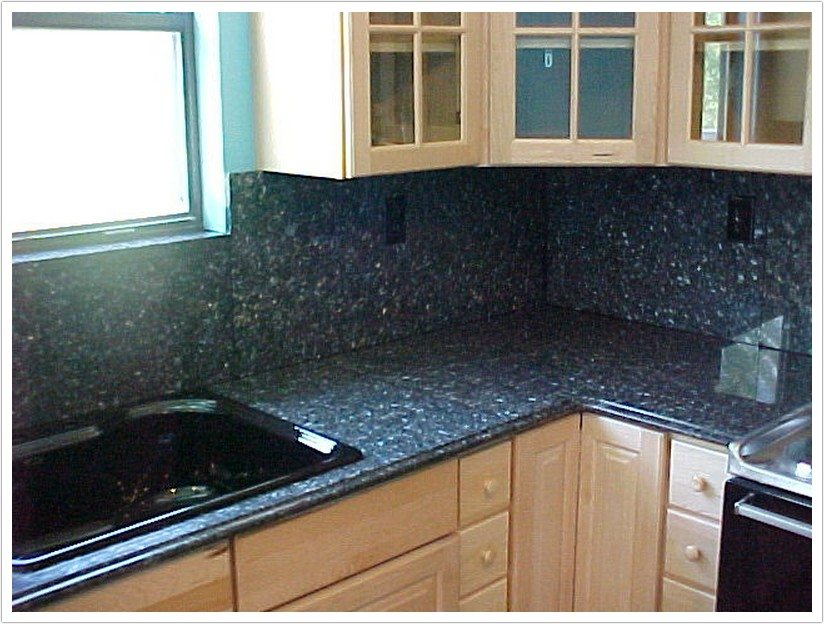 Deep Blue Pearl Granite  Denver Shower Doors  Denver