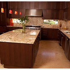 Custom Made Kitchen Cabinets Designer Kitchens Giallo Ornamental Granite - Denver Shower Doors & ...