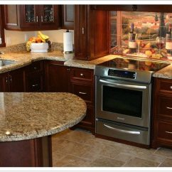 Pre Made Kitchen Cabinets How Much Is It To Remodel A Small Giallo Ornamental Granite - Denver Shower Doors & ...
