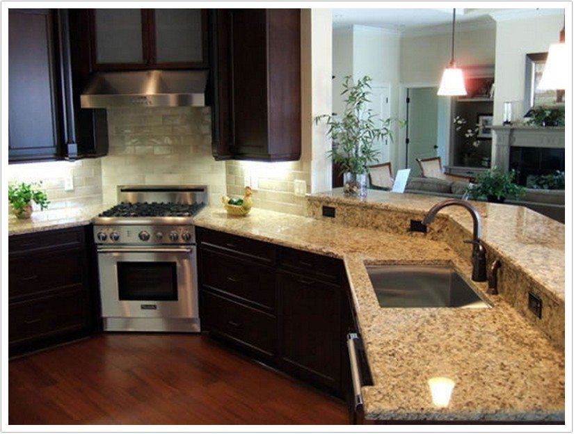 kitchen sinks denver benches for table venetian gold granite - shower doors & ...