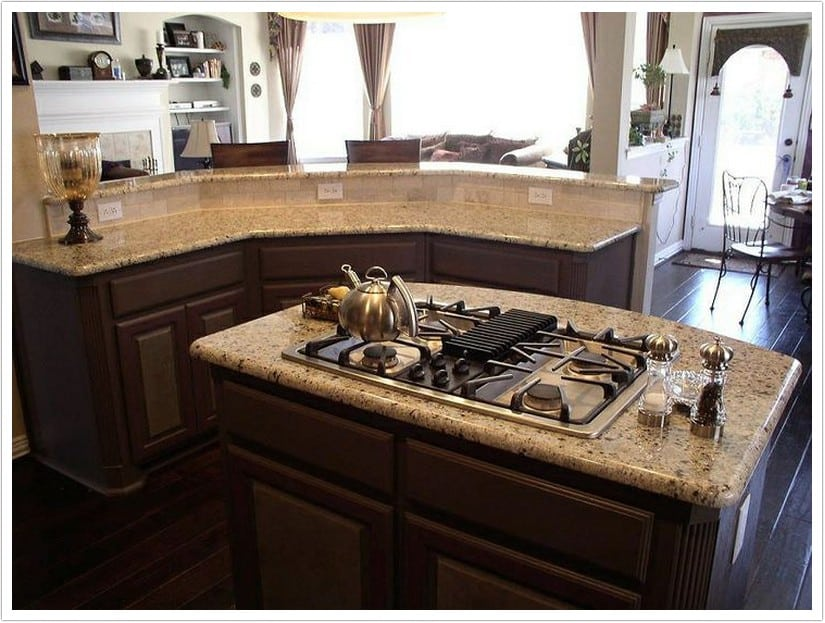 Venetian Gold Granite  Denver Shower Doors  Denver