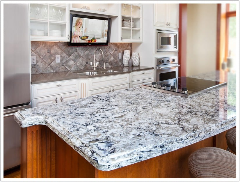 kitchen corner sinks swags and valances bellingham cambria quartz - denver shower doors & ...